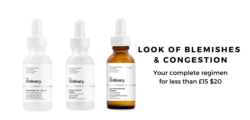 The Ordinary Regimen for Look of Blemishes & Congestion