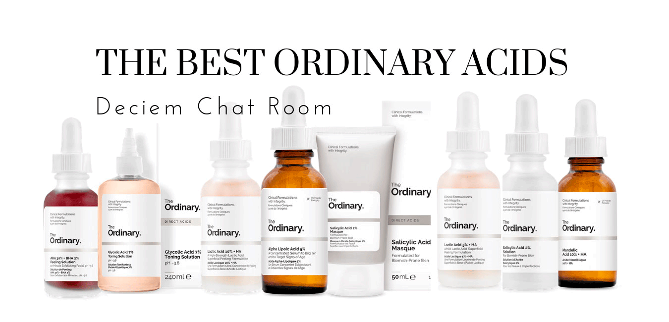 The Best Acids from The Ordinary