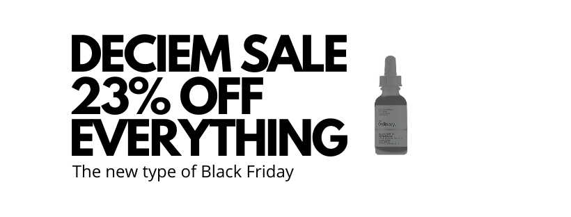 Deciem Black Friday