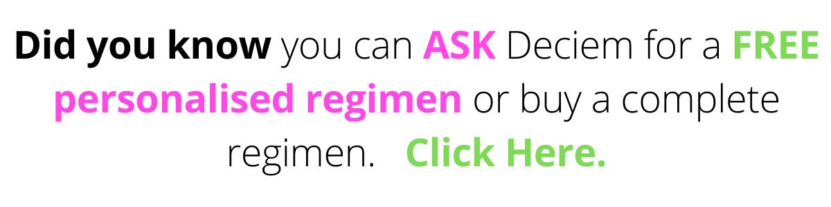 Ask Deciem For A Regimen¡