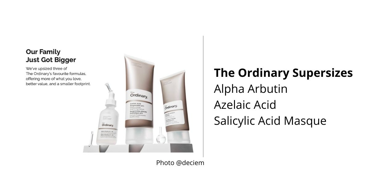 The Ordinary Supersizes