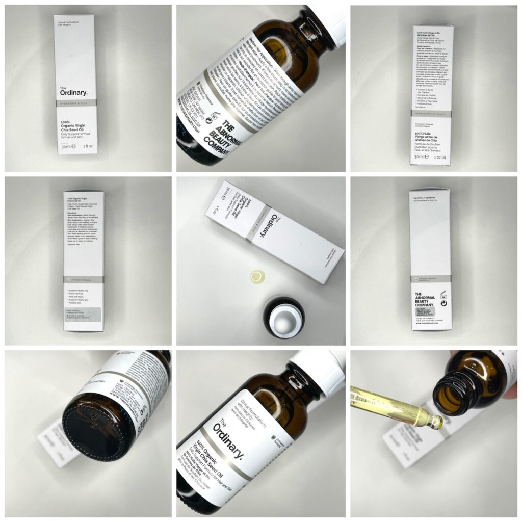 The Ordinary Chia Seed Oil Bottle & Box